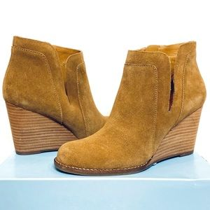 New Lucky Brand Yabba Wedge Ankle Booties
